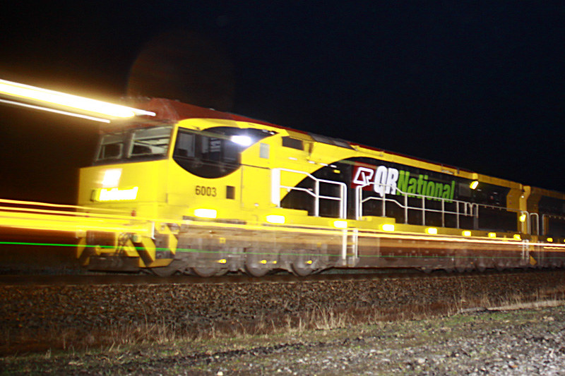 6003 lights up the night by Corey Gibson