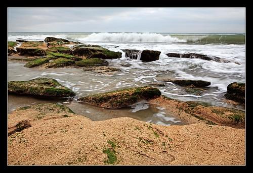 beach water canon coast nc moss rocks waves northcarolina hdr fortfisher topaz photomatix tonemapped hdraddicted coquinarocks 5dii
