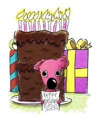 Rosie's birthday card.