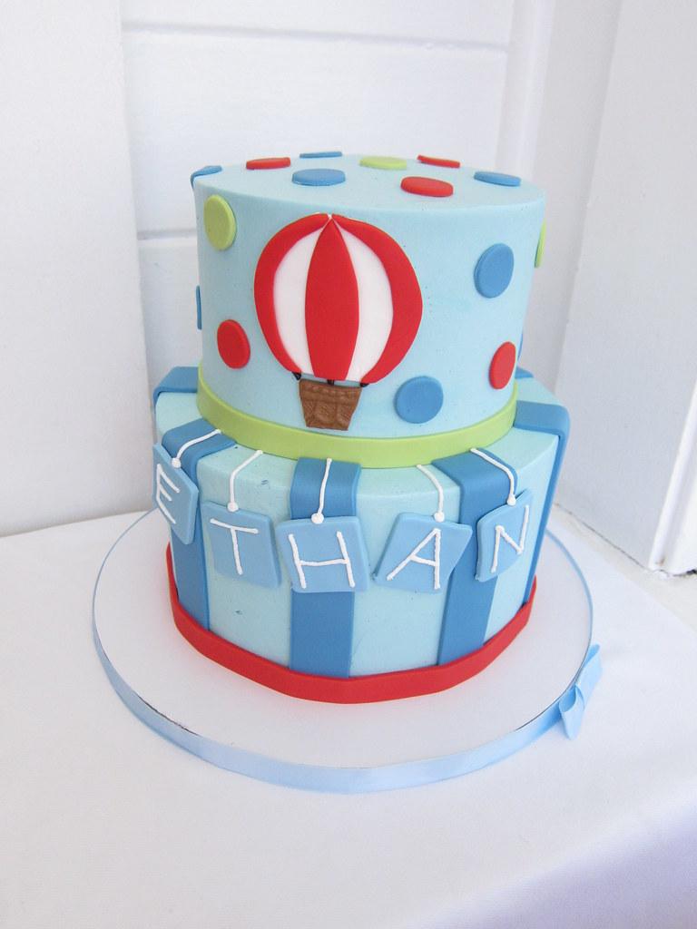 Enjoyable Hot Air Balloon Birthday Cake Polkadots Olga Flickr Funny Birthday Cards Online Necthendildamsfinfo