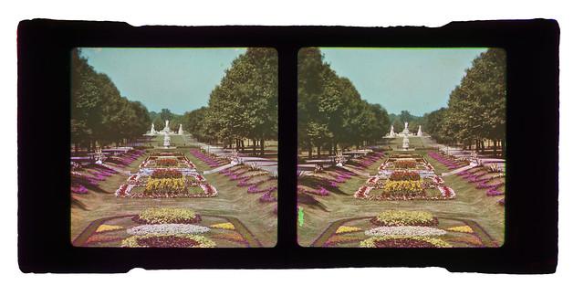 Frederick E. Ives - Sunken Garden, Fairmount Park, Philadelphia, 1898