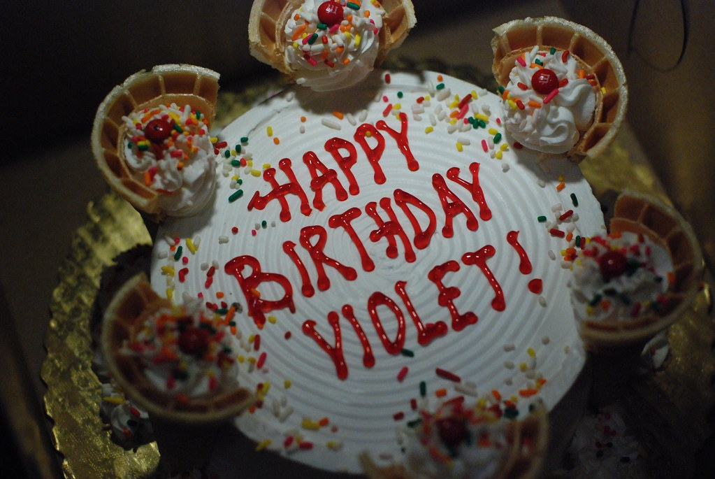 Happy Birthday Violet!   A delicious ice cream cake from the…   Flickr