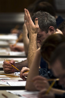 Sailors take their advancement exams. | by Official U.S. Navy Imagery