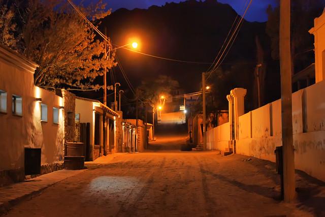 de noche en Purmamarca