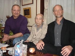 Visiting Kinjo Hiroshi Sensei with Hamilton Sensei   by Mark Tankosich