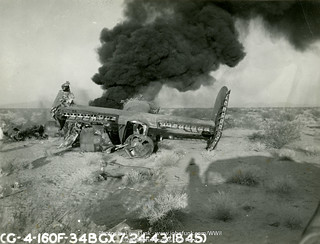 Crash of B-24 42-7009 at Blythe Army Air Base, CA on 24 July 1943   by John Funk from Golden Colorado