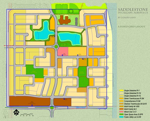 A Fused Grid Layout | Site Pan of the 160-acre District ...