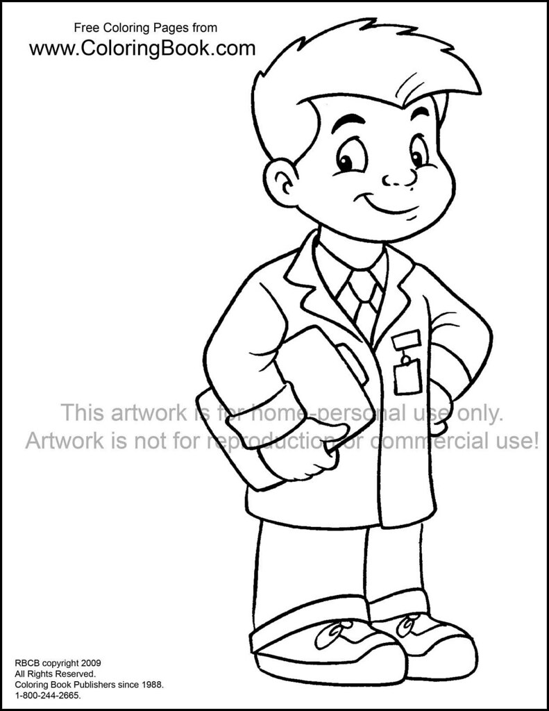 Kid Doctor Free Coloring Page Wayne Bell Flickr