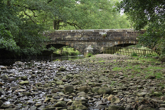 Tarnbrook Wyre at Stoops Bridge, Abbeystead, Over Wyresdale, Forest of Bowland, Lancashire, UK