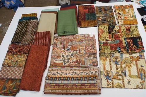 These fabrics had a warm reddish tone to them.