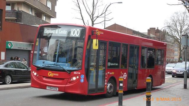 P1330135 SE214 YY64 GXA at New Kent Road Elephant & Castle London