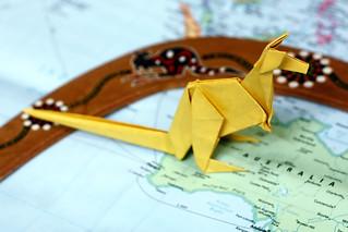 Origami Kangaroo   by Russell John