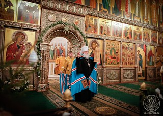 Великая вечерня в Иверском монастыре 170