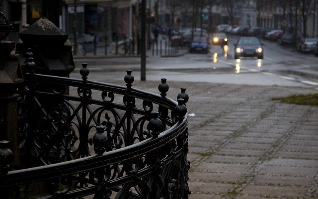 rainy evening in my  town
