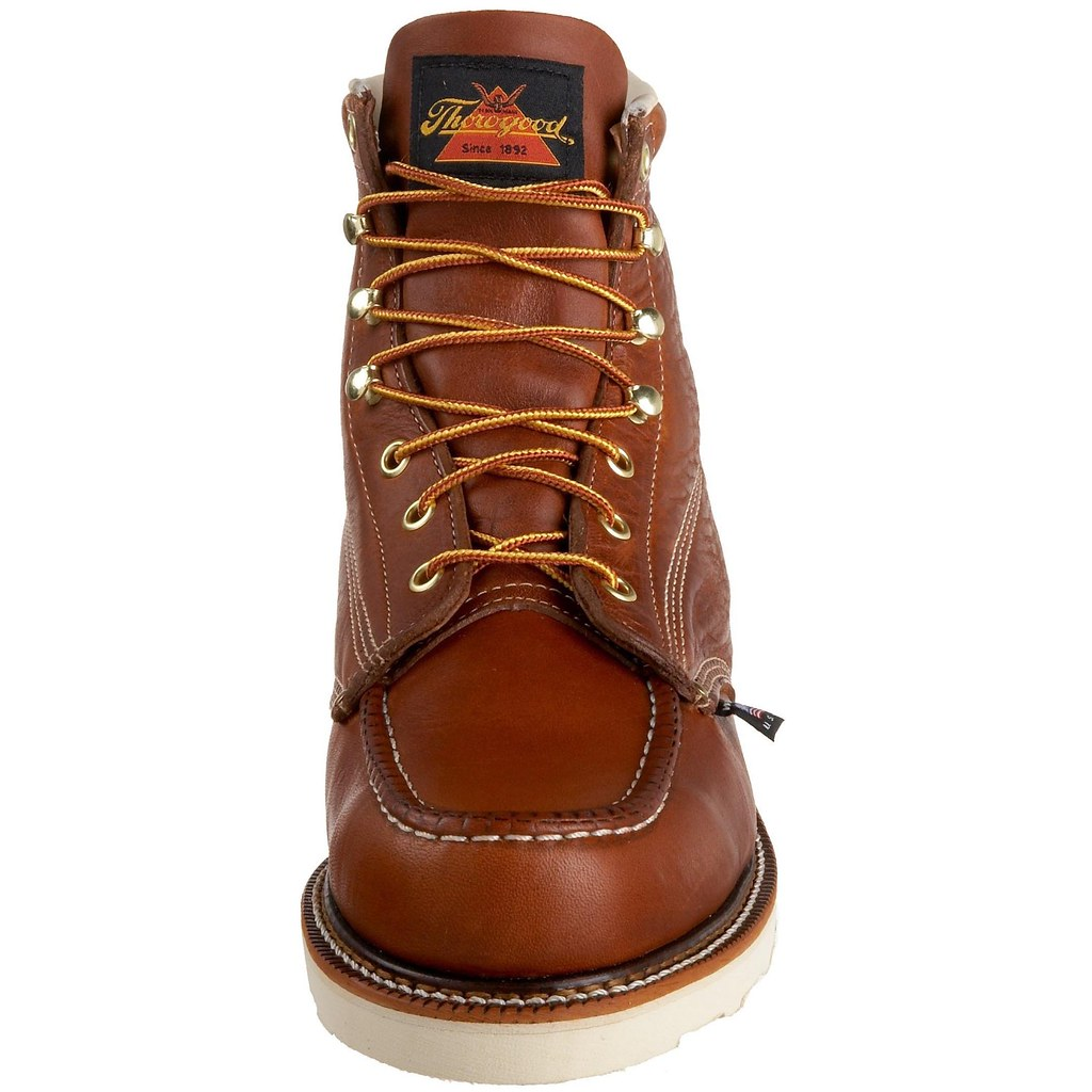 Mens THOROGOOD 814 4200 6 IN SR Moc Toe Work Boots BROWN 8