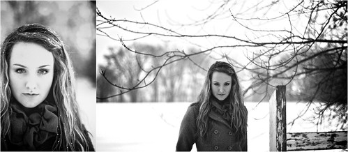 trees winter blackandwhite snow cold fence blueeyes 50mm14 blonde canon7d