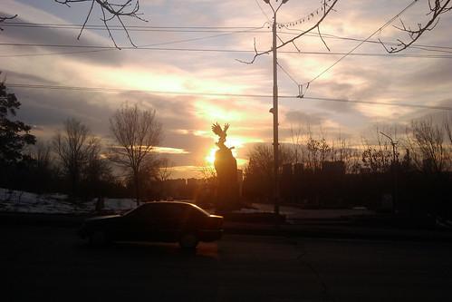 sunset monument eagle yerevan
