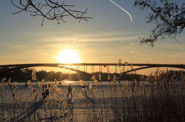 Sunset Norr Mälarstrand Stockholm