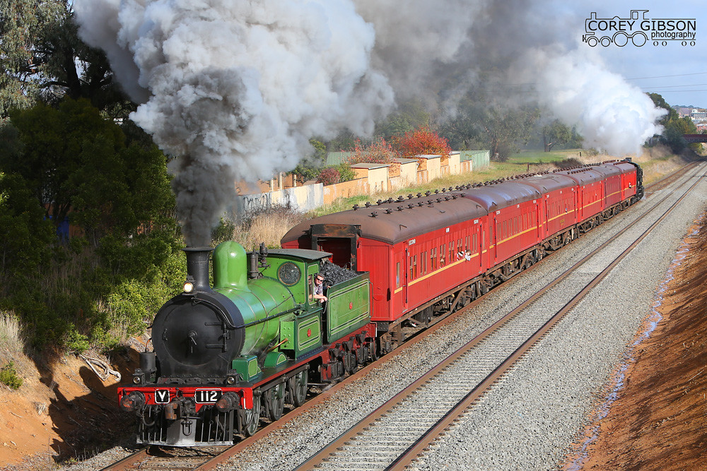 Y112 back in action on Sunday's Ballarat Heritage Shuttles by Corey Gibson