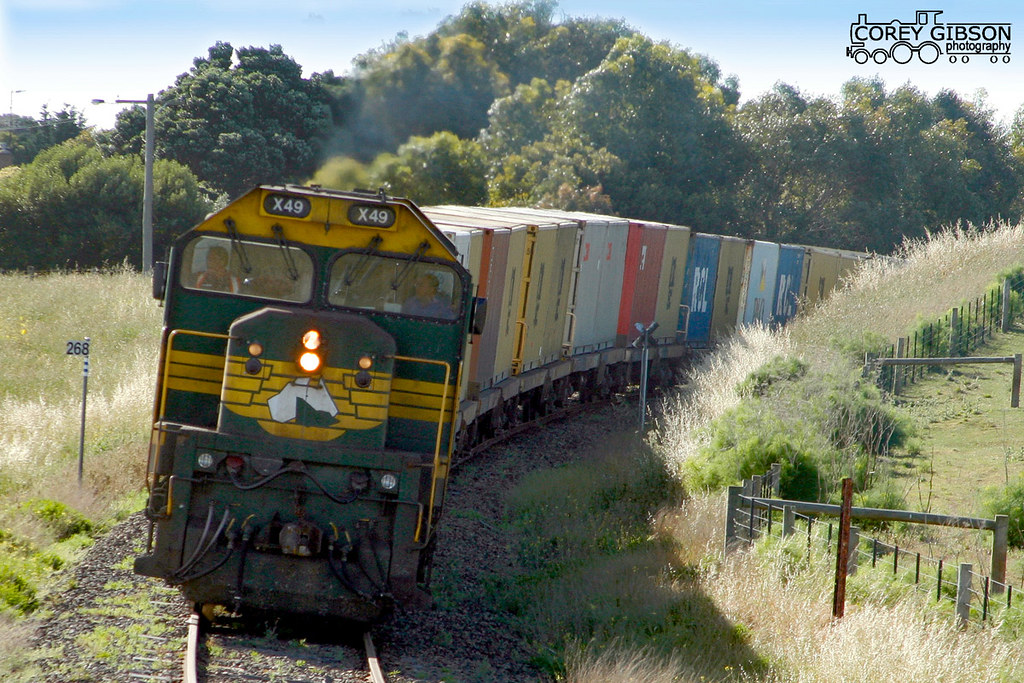 X49 with the Warrnambool freight by Corey Gibson