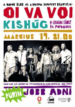 2011. február 21. 2:38 - Kishúg, Oi Va Voi, DJ Kanada Káosz és Popdavec