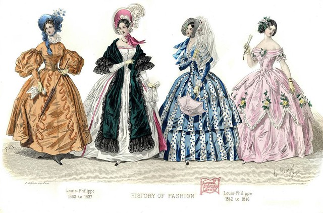 French Fashion Plate - 1832-1846