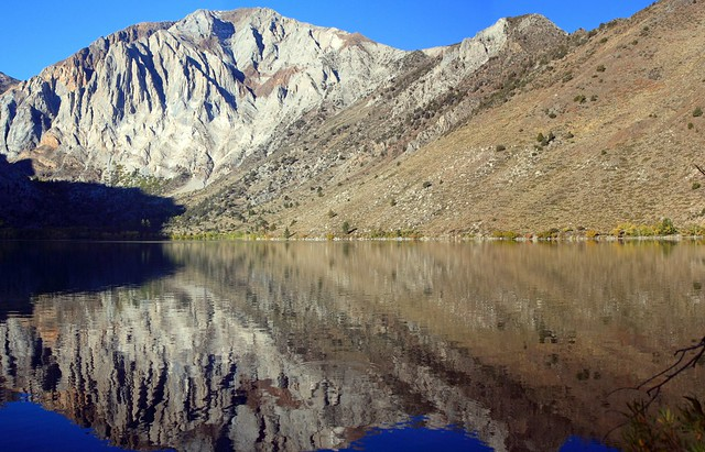 Stitched shot of Convict Lake