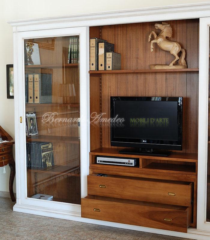Mobile Tv Con Ante Scorrevoli.Lb65 Libreria Porta Tv Con 2 Ante Scorrevoli A Vetro La Flickr