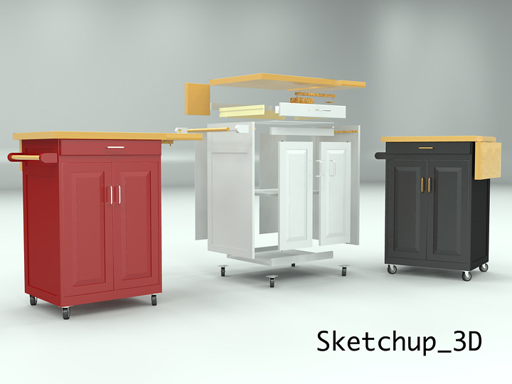 Rolling kitchen cabinet | Rolling kitchen cabinet cart with ...
