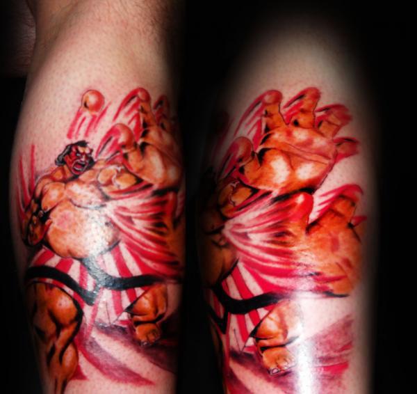Ehonda Tattoo Street Fighter Tattoo Tasi Melah Flickr