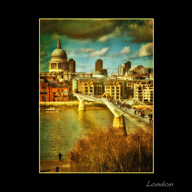 The amazing view from the Tate . London