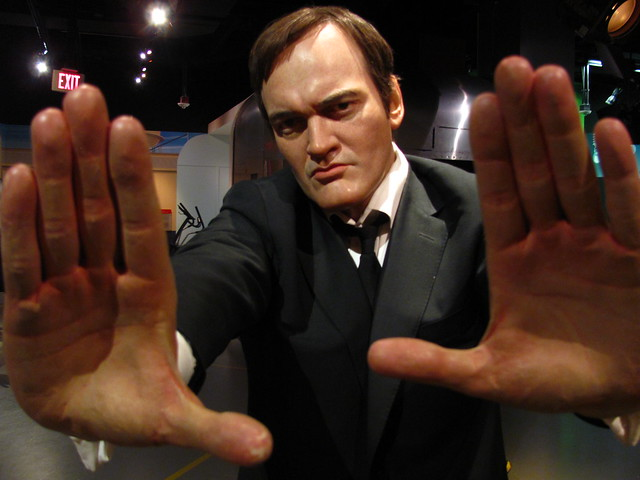 Quentin Tarantino figure at Madame Tussauds Hollywood