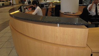 Commercial building desk counter tops installation | by rmstoneworks
