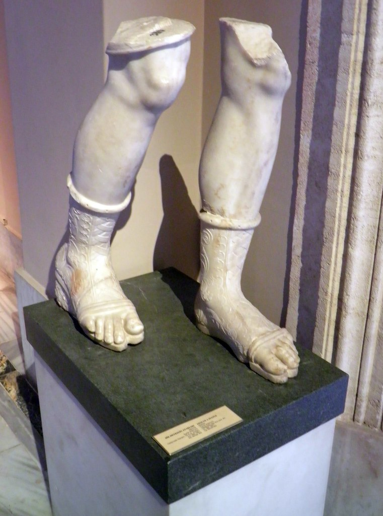 Legs Of A Statue Sculptures Of The Hellenistic Period Is