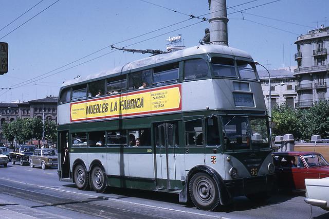 JHM-1972-1385 - Saragosse (Zaragoza), trolleybus