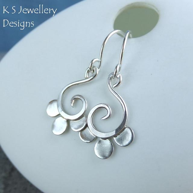 Petal Swirl Sterling Silver Earrings