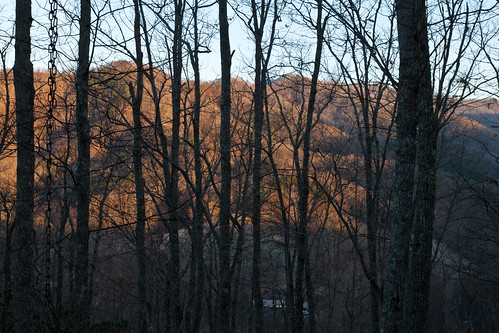 mountains sunrise landscape cabin northcarolina smokies