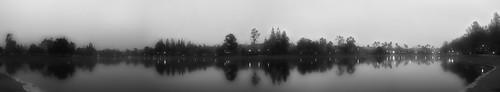 morning blackandwhite lake panoramic hdr ranchosantamargarita