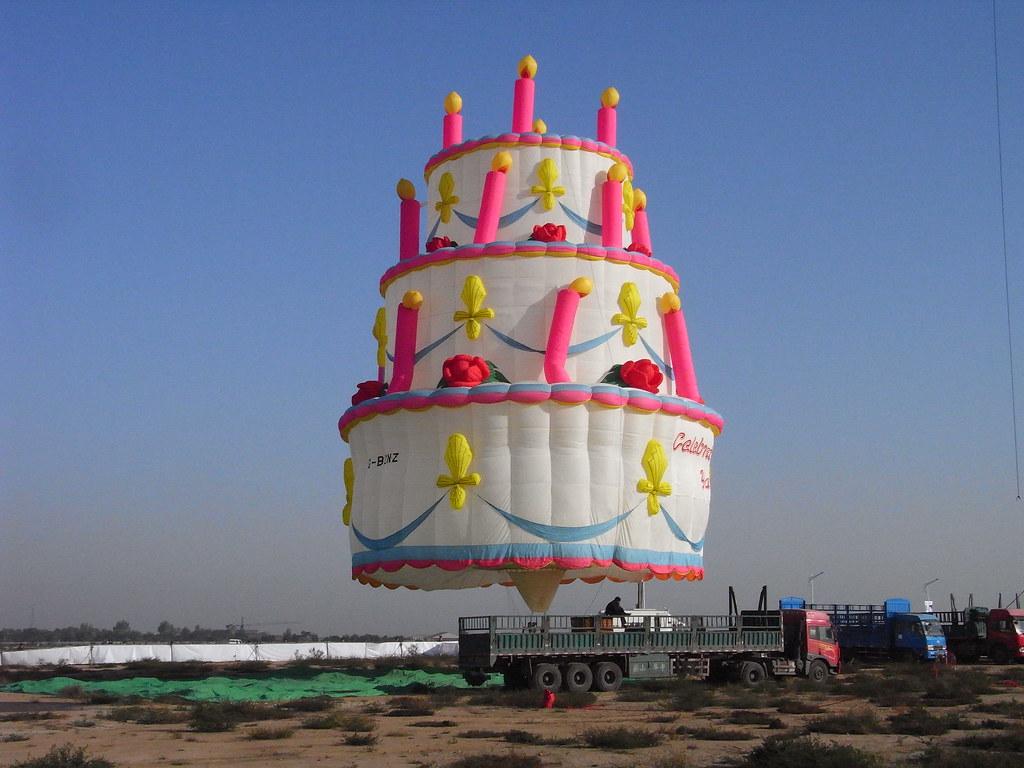 Incredible Birthday Cake Hot Air Balloon Xian China Airshow 2009 Flickr Funny Birthday Cards Online Necthendildamsfinfo