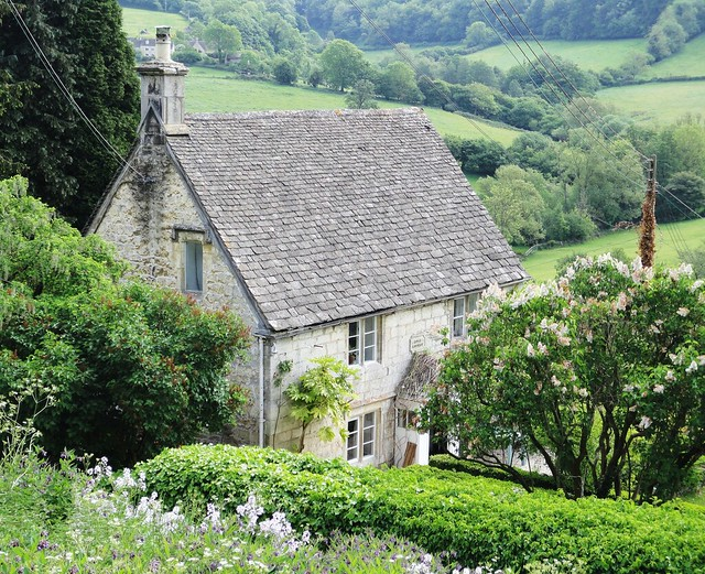 Slad, Gloucestershire ... 'Rose Cottage' - here Laurie Lee lived in later life.