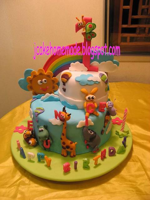 Baby Tv theme birthday cake