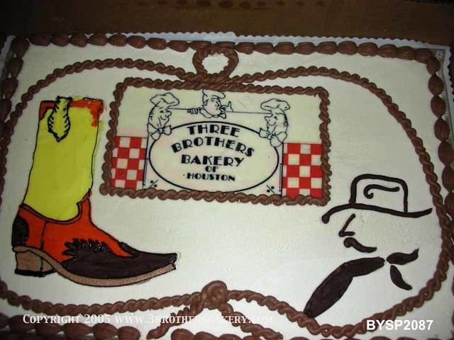 Bysp2087 Cowboy Boot Drawing Cake 3 Brothers Bakery Flickr