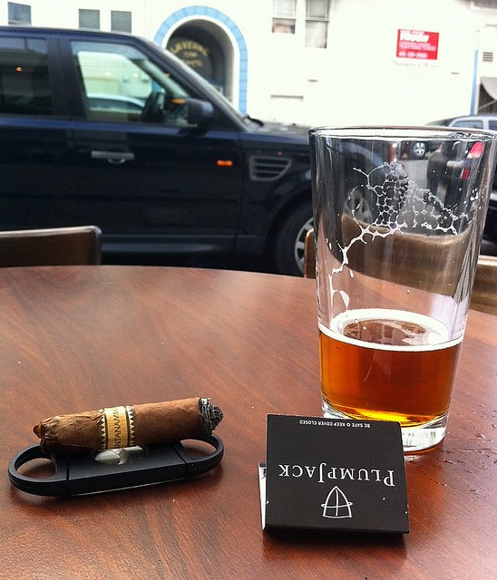 A good Cuban cigar,Beer and a Black Range Rover.  What else can a man want ??