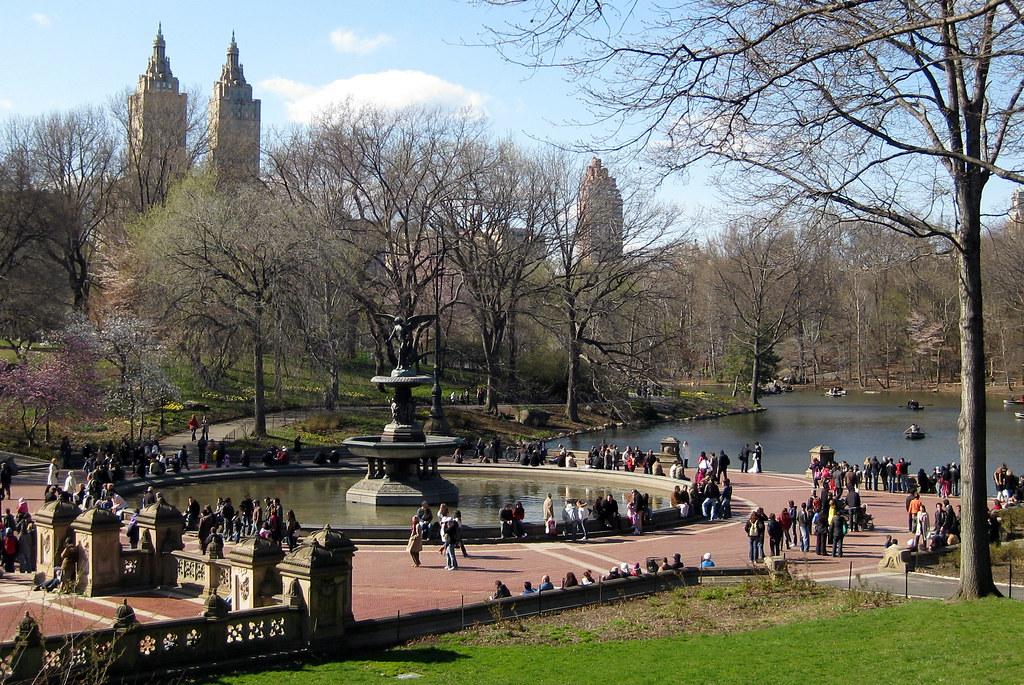 Lokasi syuting film Avengers: Bethesda terrace @ Central Park, Amerika Serikat