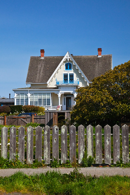 Quaint Mendocino House and Picket Fence