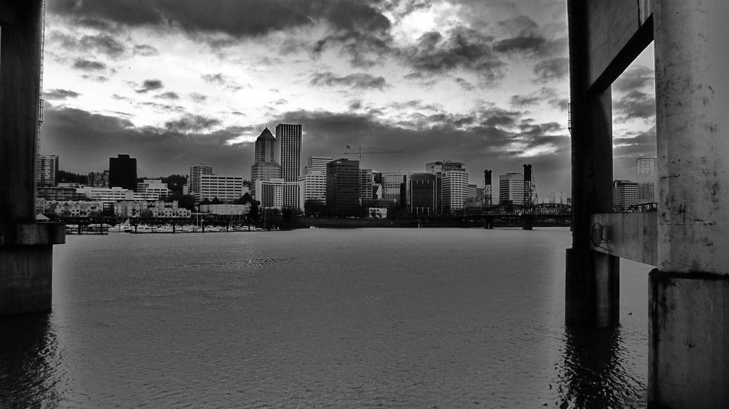 Willamette River & Downtown Portland Oregon