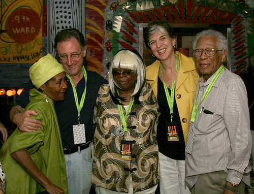 Dee Lindsey with Carol Fran, Marcia Ball, and Herb Hardesty. Photo by Jef Jaisun.