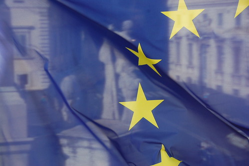 The EU Flag and Castor and Pollux   by waldopics
