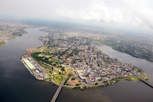 Aerial View of Abidjan, Côte d'Ivoire | by United Nations Photo