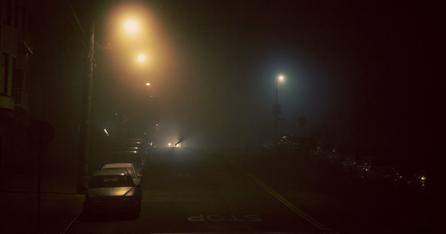 Fog in the Richmond, night.  San Francisco (2011)